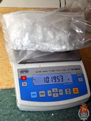 Mężczyzna miał przy sobie kilogram amfetaminy