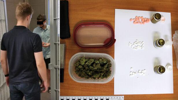 Policjanci zatrzymali podejrzanego o posiadanie narkotyków ksp