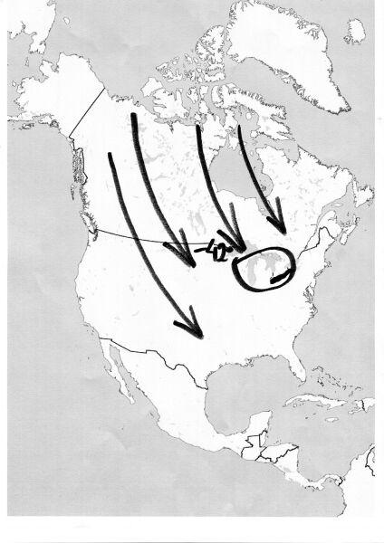 Arktyczne powietrze nad Stanami Zjednoczonymi
