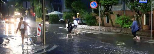 Ulice Świnoujścia pod wodą