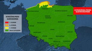 Zagrożenie na Bałtyku dalej trwa. Sztorm do 9 w skali Beauforta