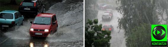 Gwałtowna burza w Przemyślu. Na Ziemię Łódzką spadło 21 litrów deszczu