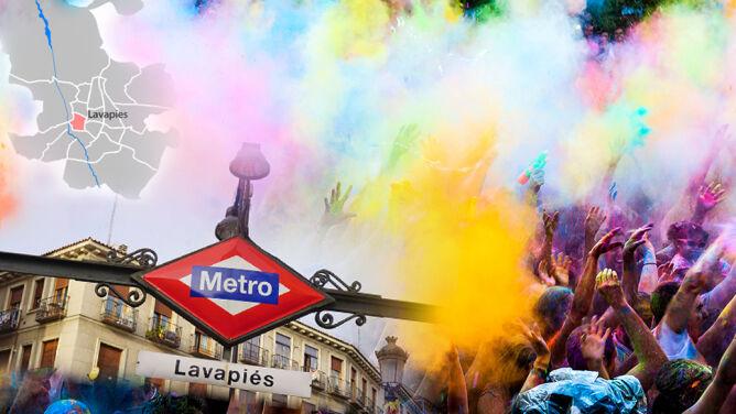 Kolorowy pył i hinduska muzyka na ulicach Madrytu
