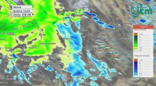 Prognoza opadów deszczu i śniegu